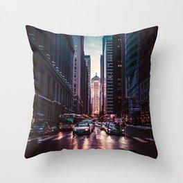 Chicago Street Throw Pillow