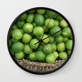 Lemon Basket Asia Food Market #society6  Wall Clock