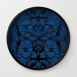 Blue cracked wall pattern Wall Clock