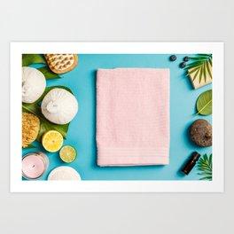 spa settings Art Print