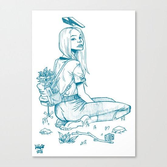 Crow Girl Canvas Print