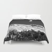 yosemite Duvet Covers featuring Yosemite by Claude Gariepy