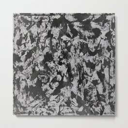 Black Watercolor on White Background Metal Print