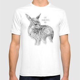 Deer Illustration By Magda Opoka | Animal | Black and White | bw | black-and-white | Animals T-shirt