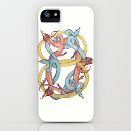 Dragons and Snakes Entwined Eternal iPhone Case