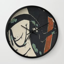 Japanese Kanagawa style painting (Kanagawa oki nami) Wall Clock