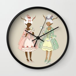 Fawns of the Royal Palace Wall Clock