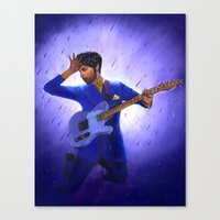 prince Canvas Prints featuring Prince by Jeffrey Melo