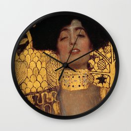 JUDITH AND THE HEAD OF HOLOFERNES - GUSTAV KLIMT Wall Clock