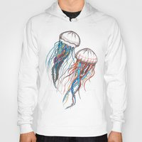 jellyfish Hoodies featuring JellyFish by Ana Grigolia
