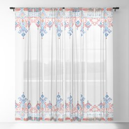 Bohem Border Sheer Curtain