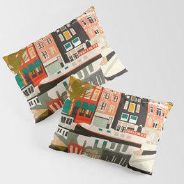 shapes houses of Amsterdam Pillow Sham