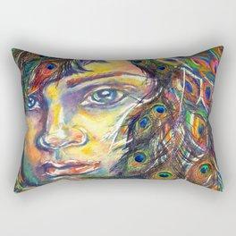 The Peacock Woman Rectangular Pillow