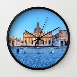 St. Peter's Square in Vatican City - Rome, Italy Wall Clock