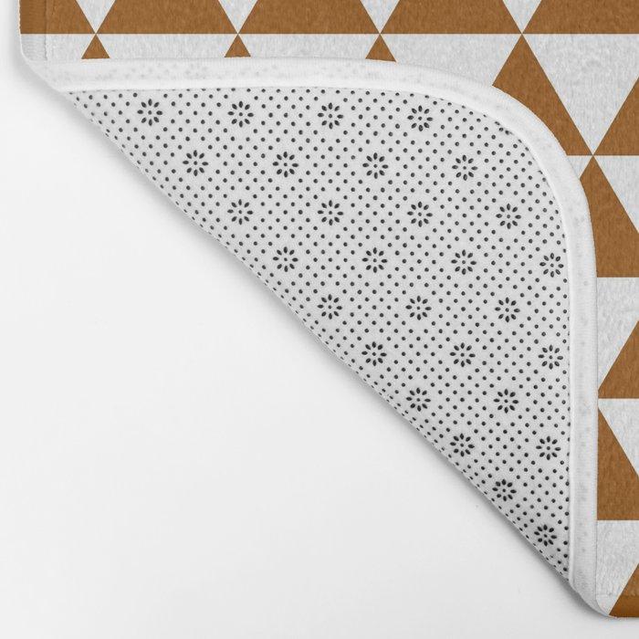 Triangles (Brown/White) Bath Mat