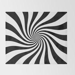 Swirl (Black/White) Throw Blanket