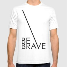 Be Brave MEDIUM Mens Fitted Tee White