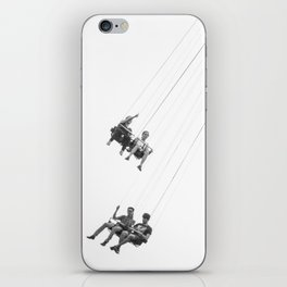 Flying chairs iPhone Skin