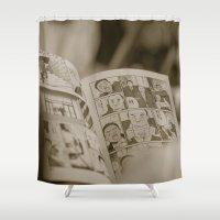 manga Shower Curtains featuring manga by gorkarcophoto