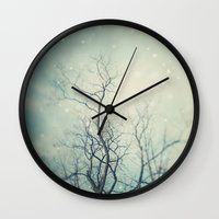 poem Wall Clocks featuring Winter Poem  by Laura Ruth