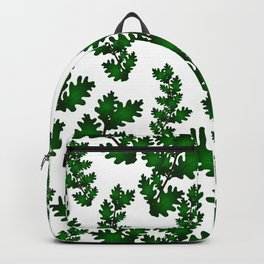 Branches with oak green leaves Backpack