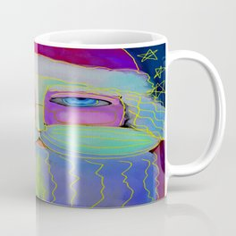 Psychedelic Santa Abstract Digital Painting  Coffee Mug