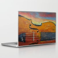 violin Laptop & iPad Skins featuring Violin by Michael Creese