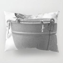 Songbird (Great Tit) on Autumn Day Black and White #decor #society6 #buyart Pillow Sham