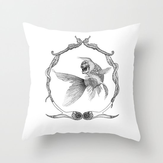 All that glitters... //framed// Throw Pillow