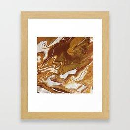 Caramel Marble Framed Art Print