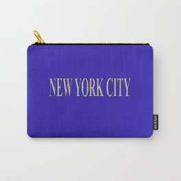 New York City (type in type on blue) Carry-All Pouch