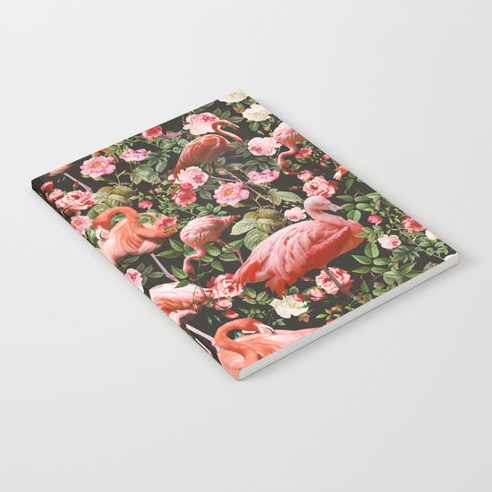 Floral and Flemingo Pattern Notebook