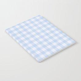 Gingham Pattern - Blue Notebook