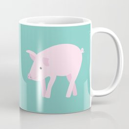 Little Pig - Mint Green Coffee Mug