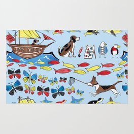 The Voyage of the Beagle Rug