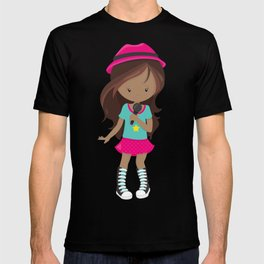African American Girl, Rock Girl, Band Singer T-shirt