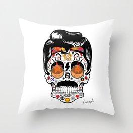 SKULL ROCK / Famous Musical Groups - Symbols - Digital Illustration Art - Pop Art - Wall Decor Throw Pillow