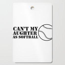 Funny Softball For Mom Dad Cutting Board