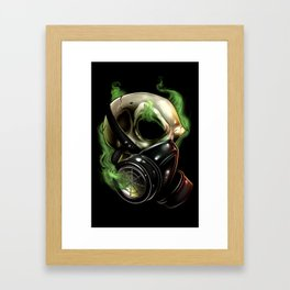 Skull/Gas mask 12 Framed Art Print