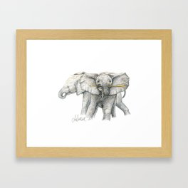 Baby Elephants! Framed Art Print