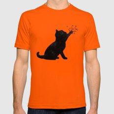 Poetic cat X-LARGE Orange Mens Fitted Tee