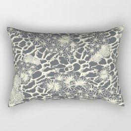 Rocky Foral Print Rectangular Pillow
