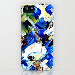 Blue Intersections iPhone Case