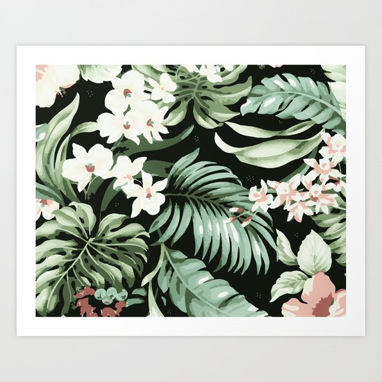 Jungle blush Art Print