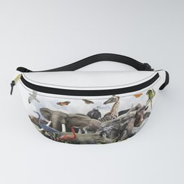 Animal Collage Fanny Pack