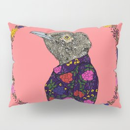 Floral Bird Pillow Sham