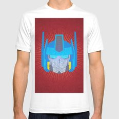 Optimus Mens Fitted Tee White SMALL