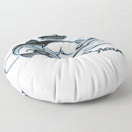 Snook Slayer Outdoors Fishing Design Floor Pillow