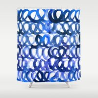 breaking Shower Curtains featuring Breaking the waves by Picomodi