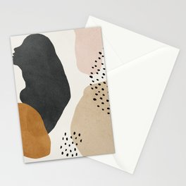 Woman silhouette art, Mid century modern art Stationery Cards